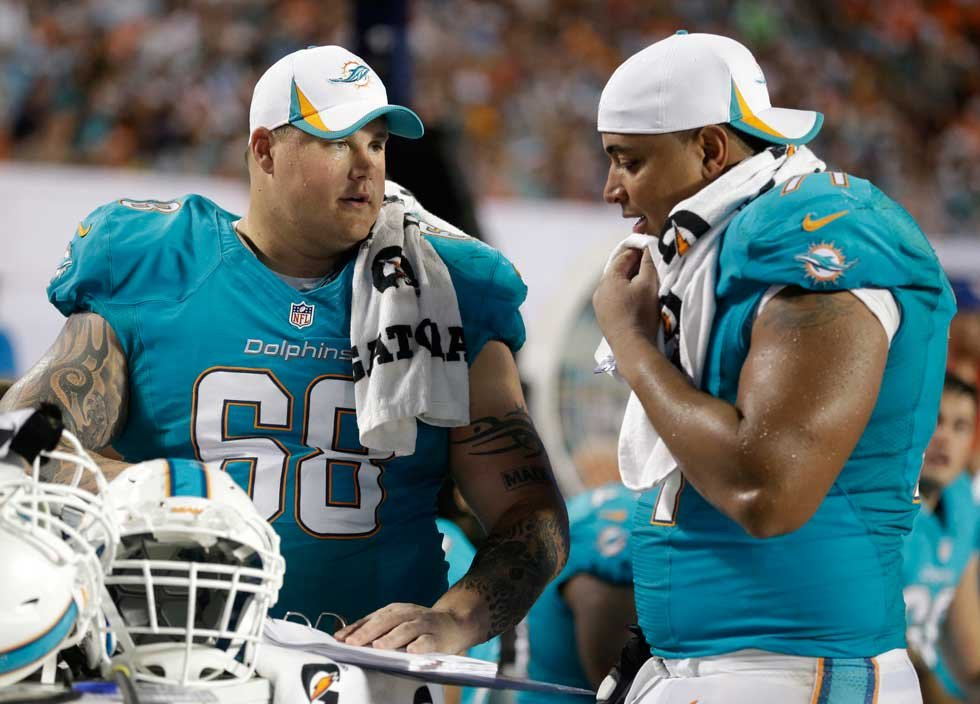 Jonathan Martin and Richie Incognito (AP)