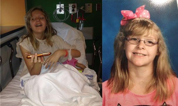 KyLeigh Walker, 6, is a big Dexter McCluster fan and underwent open heart surgery last week. (Photos courtesy: Jason Walker)