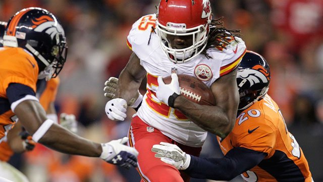 After falling 27-17 on Sunday night for the first time all season, the Chiefs insisted that they are turning their attention to the San Diego Chargers. (AP, File)