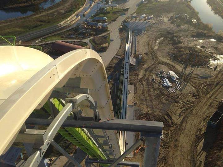 Schlitterbahn water park company is keeping the ride's exact height secret until an official measuring event this spring. But they promise it will exceed the height of the current world-record-holding slide in Brazil.