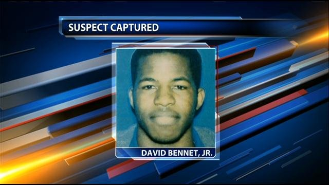 David Cornell Bennett Jr., 22, of Cherryvale, KS, was taken into custody just before 10 p.m. Tuesday in Independence, KS.
