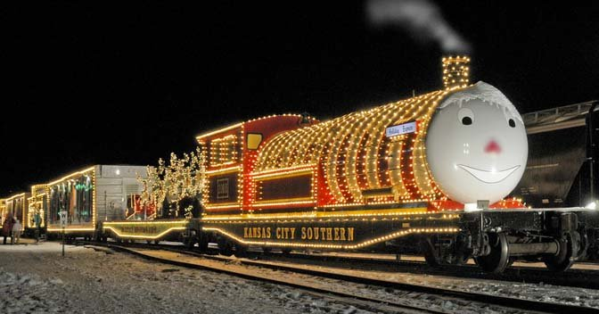 A festive holiday train that has chugged through Kansas and other states has ended its journey at Union Station in Kansas City.(Kansas City Southern Holiday Express/Facebook)