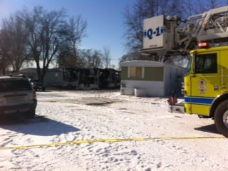 Belton firefighters responded to the fire about 8:30 a.m. Thursday on Iris Lane in the Springdale Trailer Park. (Heather Staggers/KCTV5)