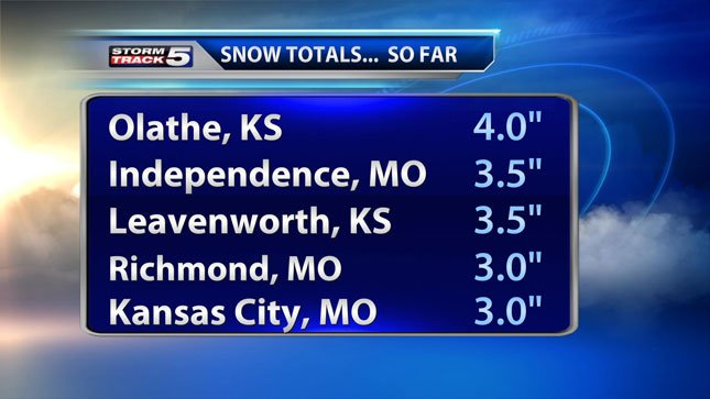 Snow that began in parts of the metro Saturday night picked up intensity after dawn on Sunday. Several inches of snow were on the ground by mid-morning.