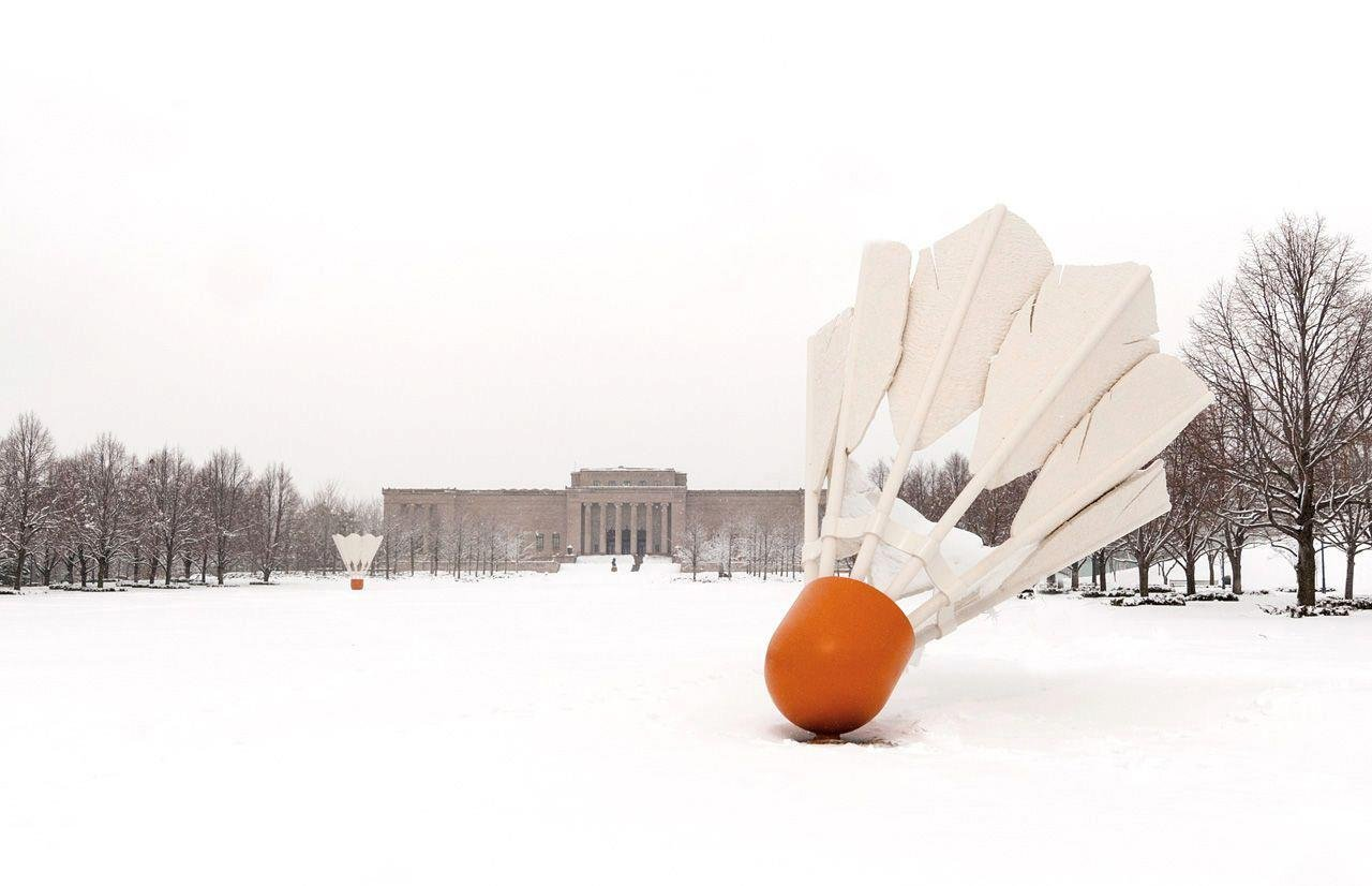 The group says that ever since the badminton birdies were put on the lawn of the Nelson-Atkins Museum of Art in 1994, there have been no playoff victories for the Kansas City Royals or the Chiefs. (The Nelson-Atkins Museum of Art/Facebook)