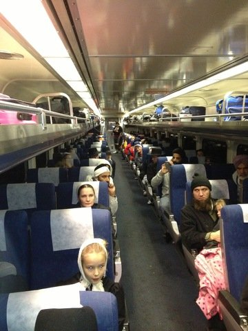 Most of the 500 Amtrak passengers who spent the night onboard three trains stranded in snow in northern Illinois are finally heading to Chicago, rail line officials said Tuesday morning. (Submitted photo/Bill Dean)