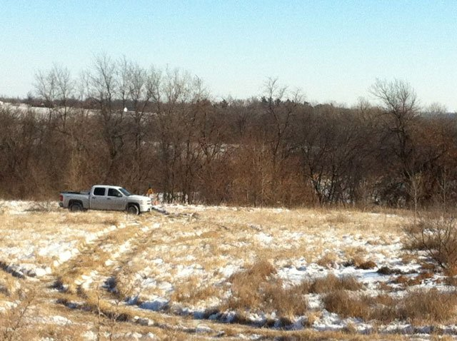 Police say a hiker found human remains behind a shopping area in northeast St. Joseph. (Brett Hacker/KCTV5)