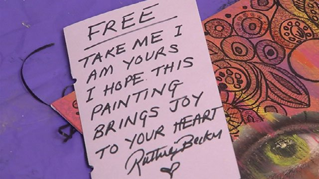 Ruthie Becker started Free Art Friday Kansas City by hiding art around the metro for strangers to find it and keep.