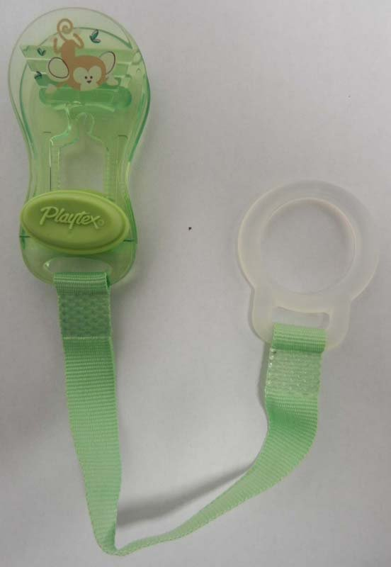 Playtex is recalling 1.4 million pacifier holders because of concern that a small child could choke if a part of the clip broke off.