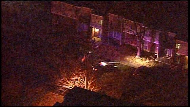 KCMO apartment shooting scene.