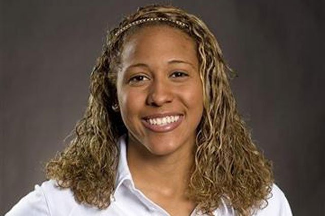 In this 2010 photo provided by the University of Missouri Athletic Department is Sasha Menu Courey. (AP Photo/University of Missouri Athletic Department)