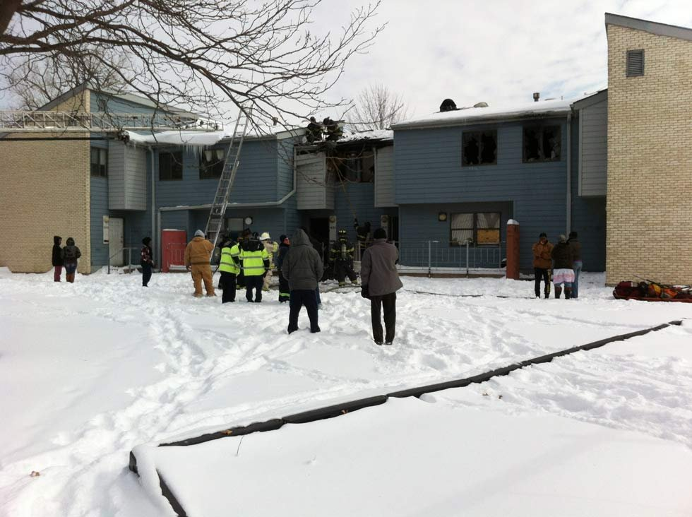 15-year-old Emoni Williamson got her 6 brothers, the youngest of which is 6 months old, out of their apartment when a fire broke out. (Chuck Prewitt/KCTV)
