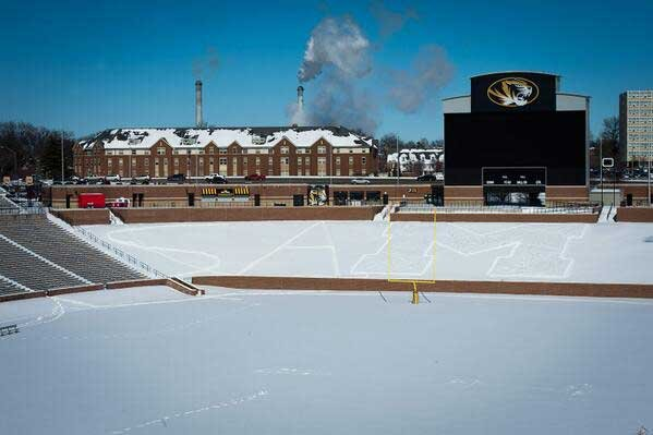 Support for Michael Sam on Faurot Field at Memorial Stadium via Twitter
