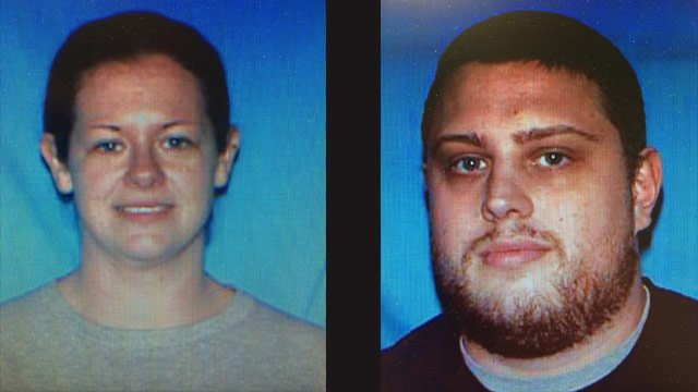 Authorities were looking for Krystal and Matthew Scroggs after they were charged with second-degree murder.