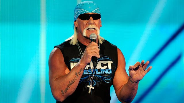 Hulk Hogan, perhaps the biggest star in the company's 50-year history, is set to bring the red-and-yellow back to the sports entertainment behemoth and will host the April 6 WrestleMania in New Orleans.(AP Photo/Chris Pizzello)