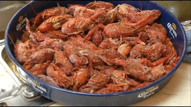 Crawfish at Jazz, A Louisiana Kitchen.