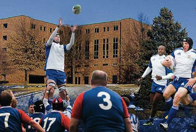 The Kansas City Blues Rugby Club is camping out on the roof of the former Park Lane Hospital until $25,000 is raised for River of Refuge, a soon-to-open transitional living center. (River of Refuge/Facebook)