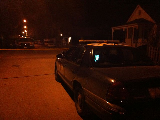 Crime scene tape surrounds a home in the 800 block North Kansas Avenue after someone called 911 to report they heard gunshots. (Emily Rittman/KCTV5)