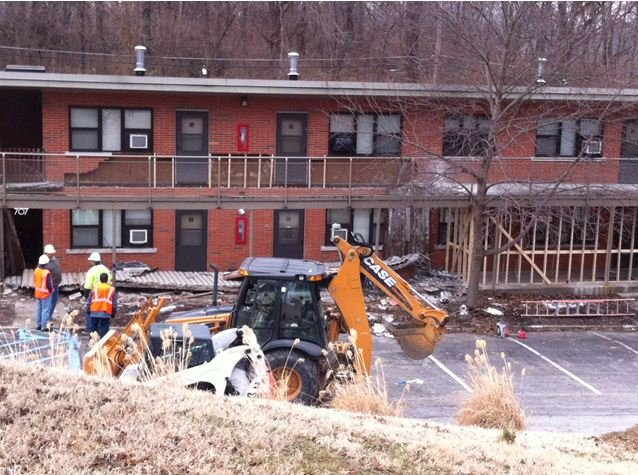 The University of Missouri says it will demolish an apartment complex where a Columbia firefighter died Feb. 22 when a walkway collapsed.