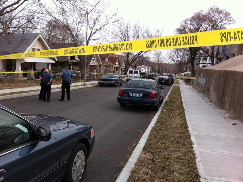 The shooting happened about 5 p.m. at 4215 Virginia Ave.