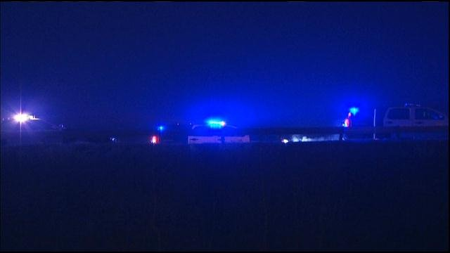 Authorities are looking for a wrong-way driver who fled after an accident on Interstate 35.  The wreck happened shortly after midnight Tuesday in the southbound lanes just south of Old 56 Highway.