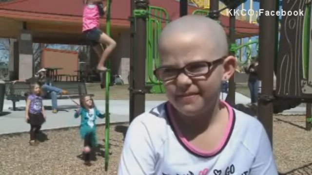 Kamryn Renfro of Grand Junction shaved her head to help her friend get through chemotherapy.