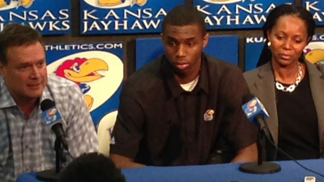 Kansas freshman Andrew Wiggins made official Monday what he's been telling folks all along: He's headed to the NBA after his only season with the Jayhawks. (Bill Lindsay/KCTV5)