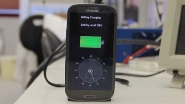 An Israeli company has posted a video to YouTube with the prototype for technology that can charge a cell phone battery in just 30 seconds.
