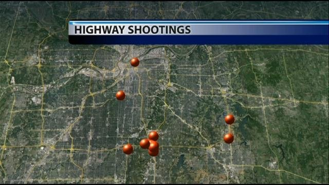 There have been 12 confirmed shootings along metro highways and streets over a one month period.