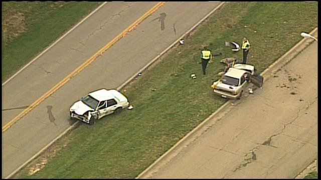 Kansas City police were called about 2:20 p.m. Monday to North Woodland Avenue just south of Northeast 102nd Terrace.