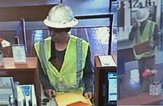 Surveillance photos of First Federal Bank robber.