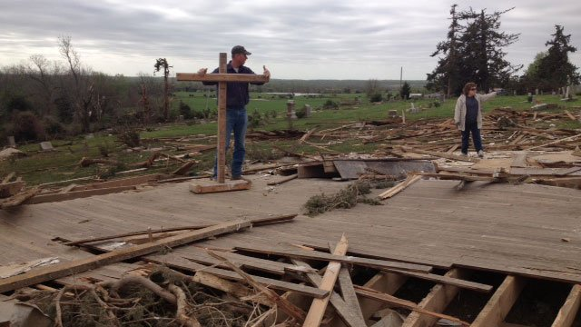 Many people in Linn County are leaning on each other for hope after a tornado through one families livelihood and also the one place they could turn to get through hard times like this.