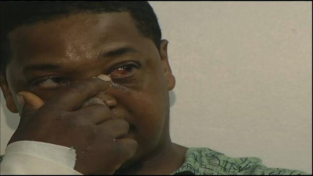 Riley Carter, Jr. said he thought he was going to die when two dogs attacked him outside his home.