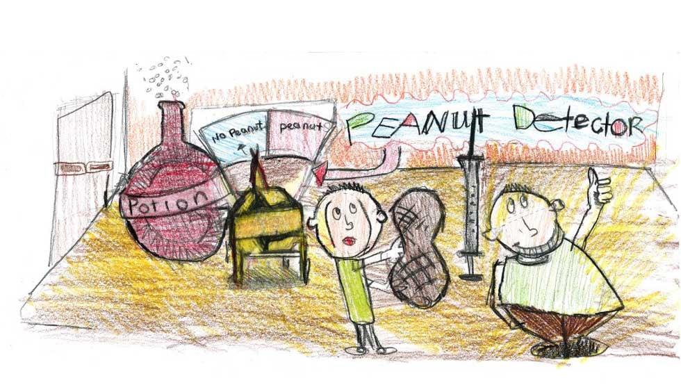 The winning art for Colin Garner, a 4th grader from Delaware Ridge Elementary in Kansas City, KS.