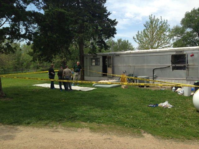 Deputies were called to the Goodwill Chapel Trailer Park in the 26000 block of Goodwill Chapel Road about 2:30 p.m. Sunday.