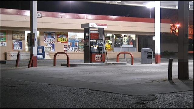 Kansas City, KS, police said the car was taken from a Phillips 66 gas station, located at 1300 N. 38th St., about midnight Wednesday.