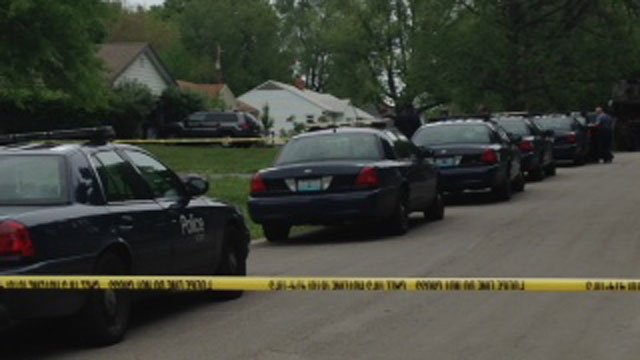 Kansas City Police responded to 10924 Poplar Ave. in south Kansas City about 10:30 a.m. Tuesday after the man was discovered in the pool. (Heather Staggers/KCTV5 News)