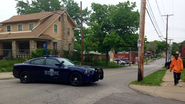 Kansas City police were called at 9:50 a.m. Wednesday to the 5500 block of The Paseo. (Erika Tallan/KCTV5 News)