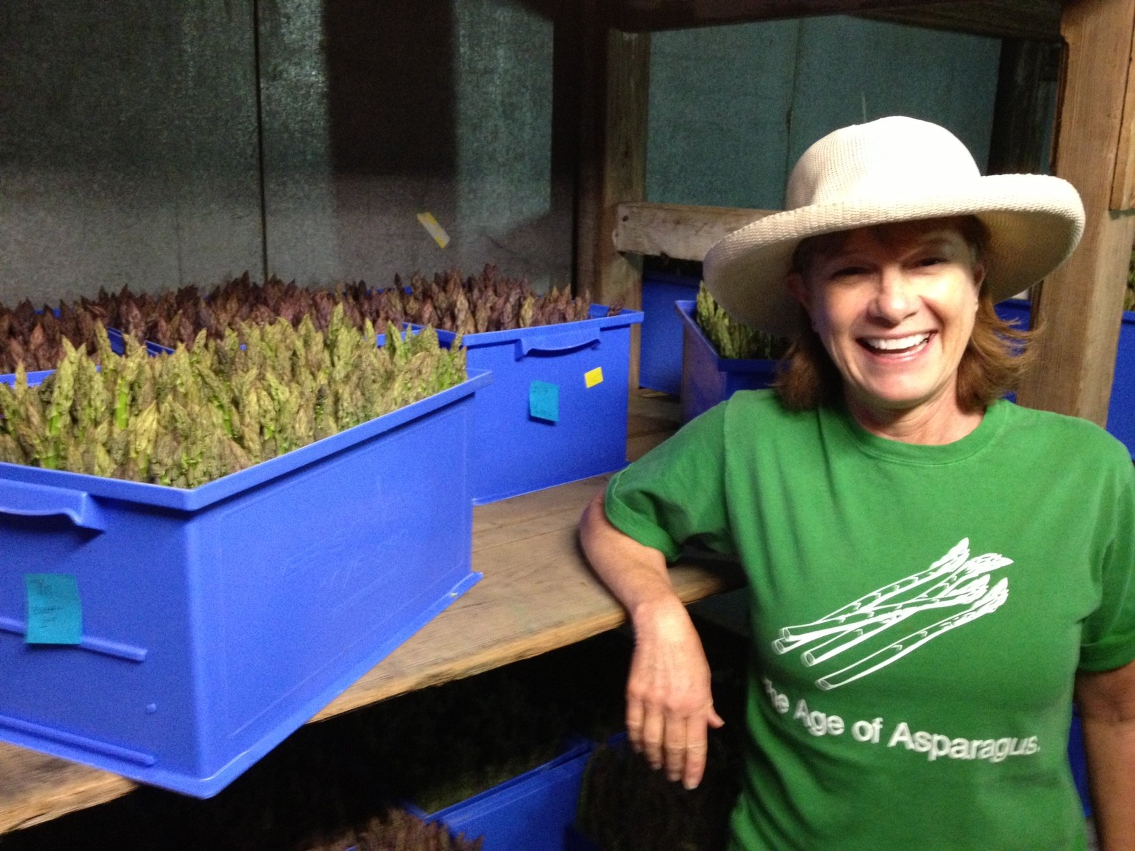 Karen Pendleton with some of her precious crop.
