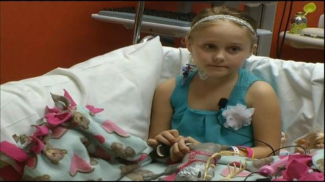 "Isabella ""Izzy"" Smith in her hospital bed during an interview Monday"