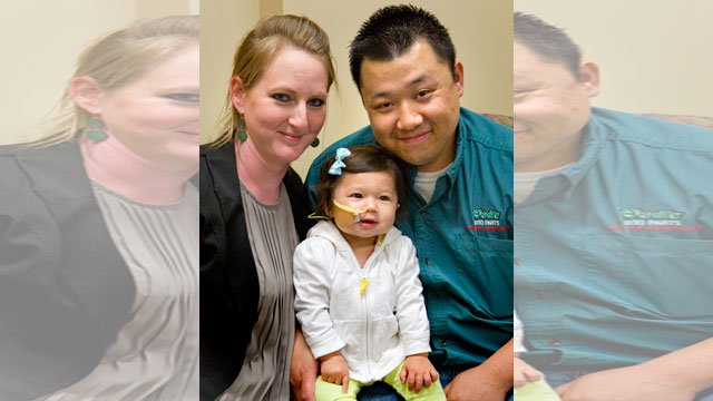 Maehlee Her has a disorder called eosinophilic esophagitis that causes her to get sick if she eats any kind of food. (Thad Allton/The Topeka Capital-Journal)