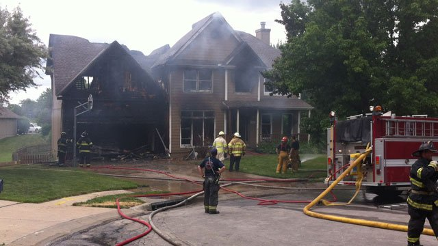 The fire broke out about 1:30 p.m. Sunday in the 4000 block of Northeast 60th Street.