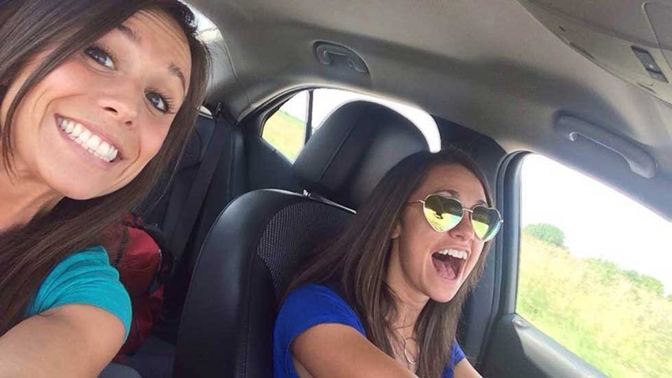 Collette Moreno and Ashley Theobald minutes before Moreno was killed in crash