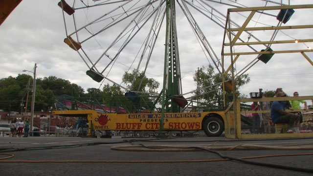 It was supposed to be a fun-filled night Wednesday on the first day of the festival. The Ferris wheel is the main attraction for carnival fans, but now it won't be part of the festivities at all.