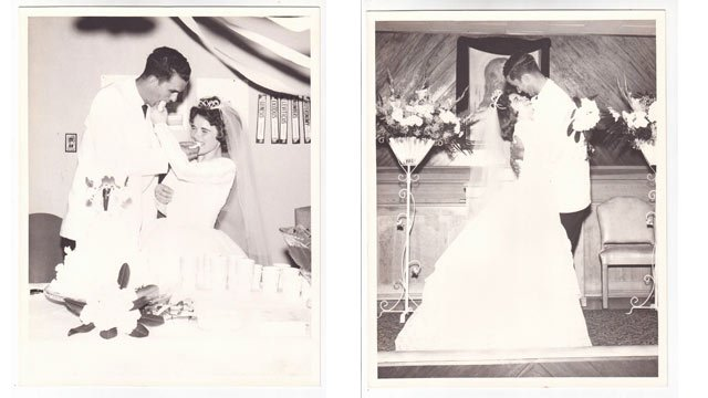 Hellen and Howard Cook on their wedding day.