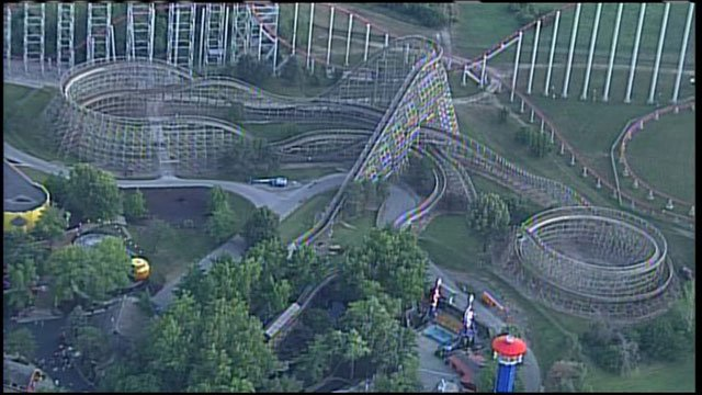 A Kansas City mom says her son got a concussion after riding the Timber Wolf roller coaster at Worlds of Fun.