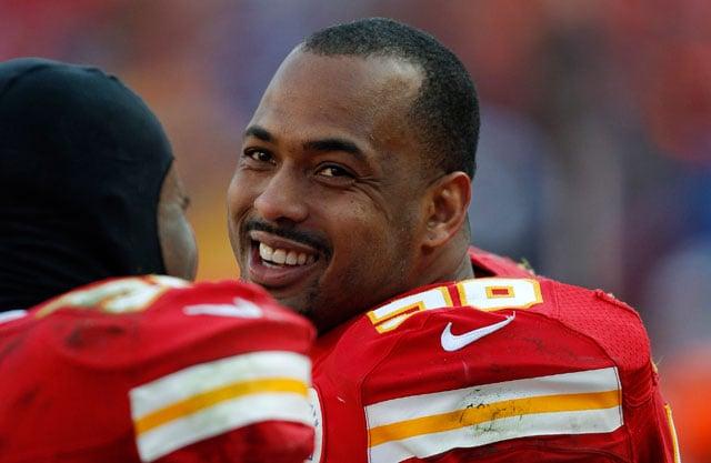 Chiefs linebacker Derrick Johnson still believes his best days are ahead. (AP Photo/Ed Zurga)
