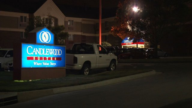 Overland Park police say a woman reported the sexual assault about 11:20 p.m. Sunday after she and a group of friends were dropped off at the Candlewood Suites Hotel near College Boulevard and Westgate Street.
