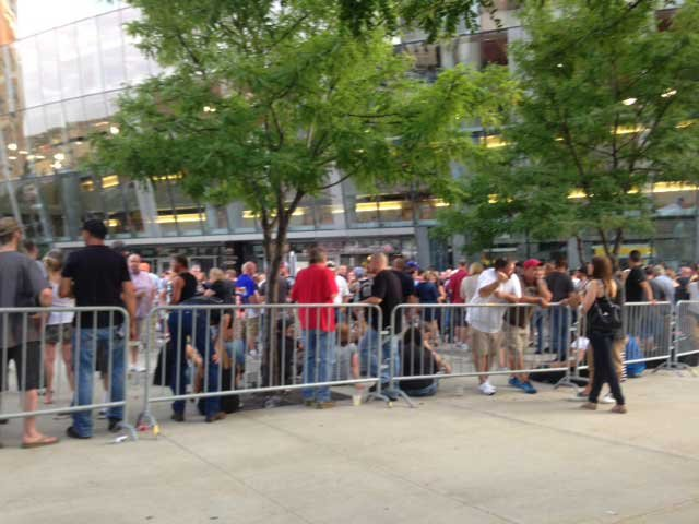 Fans outside Sprint Center.