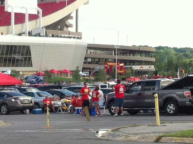 Tailgating before the Chiefs game versus the Bengals
